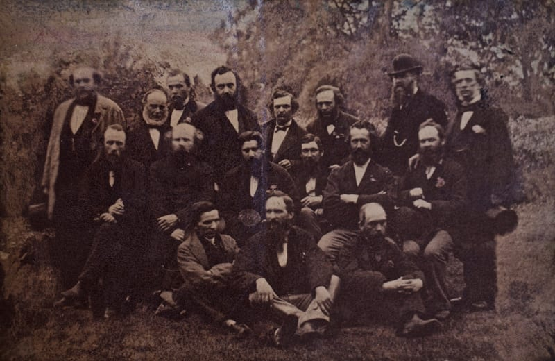 Members of the Glasgow Southern Medical Society at the annual summer picnic in Luss, 21 June 1873