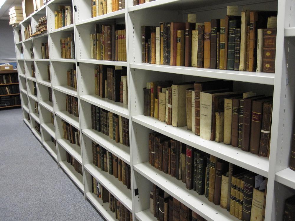 Books in the Rare Book Store