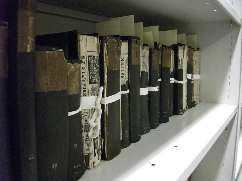 Damaged books from the mackenzie Collection