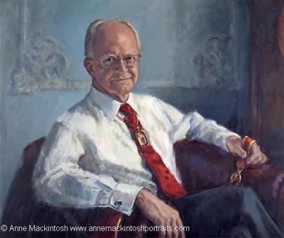 Portrait of Professor Sir Graham Teasdale © Anne Mackintosh