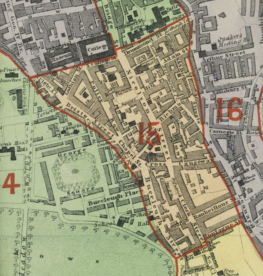 Map of the sanitary districts of Edinburgh
