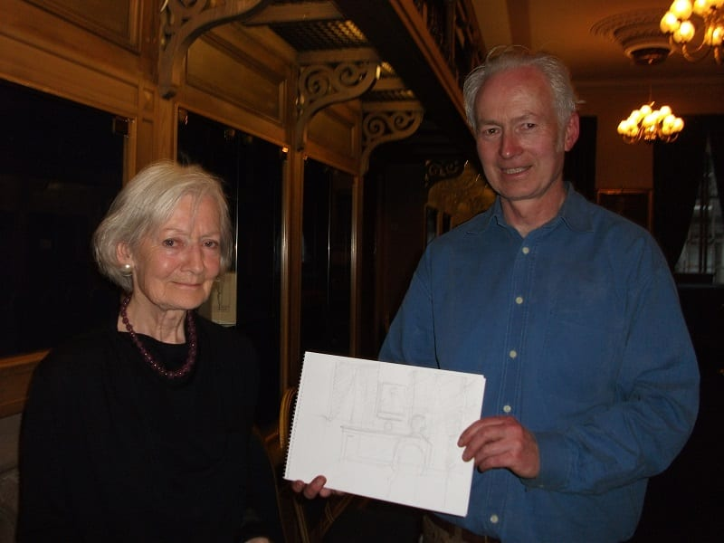 Hugh Buchanan and the winner of the best sketch of the evening
