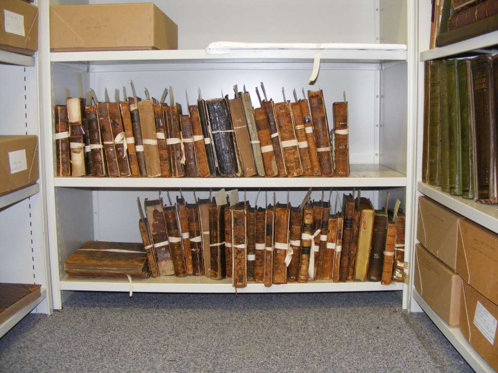 Books waiting to be adopted and conserved.