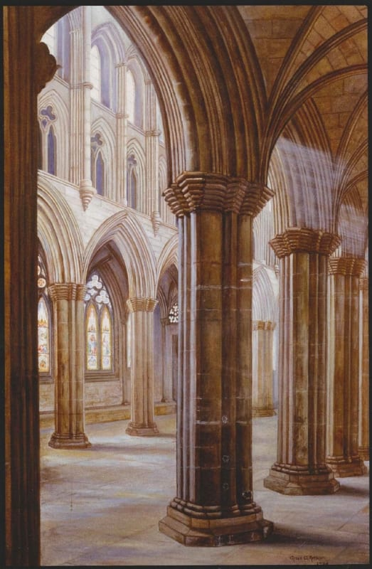 Copy of a 19th century picture, showing the interior of the cathedral (RCPSG 1/12/9/6)