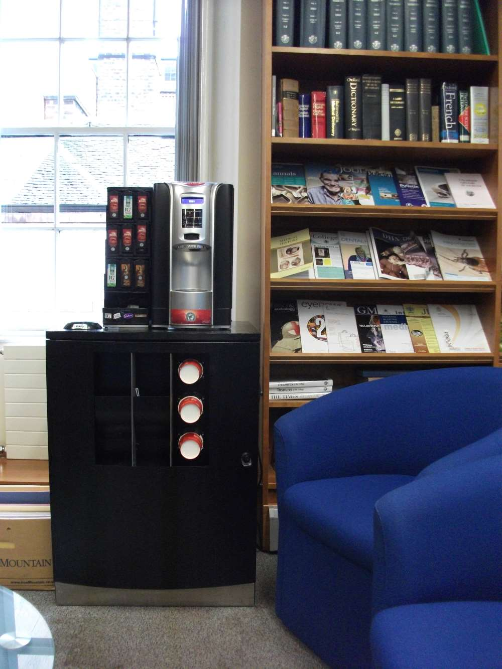 The Library tea and coffee machine - learning how to operate this is an essential skill.