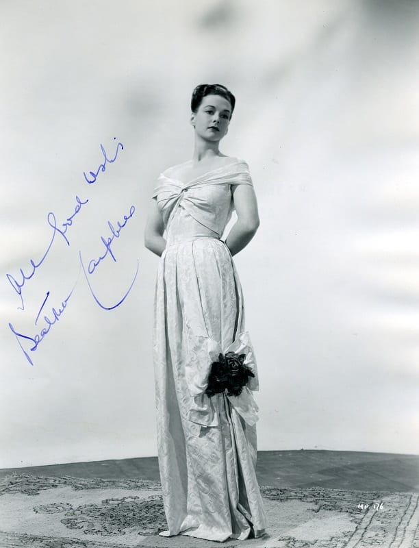 Signed studio photograph of actress, Beatrice Campbell