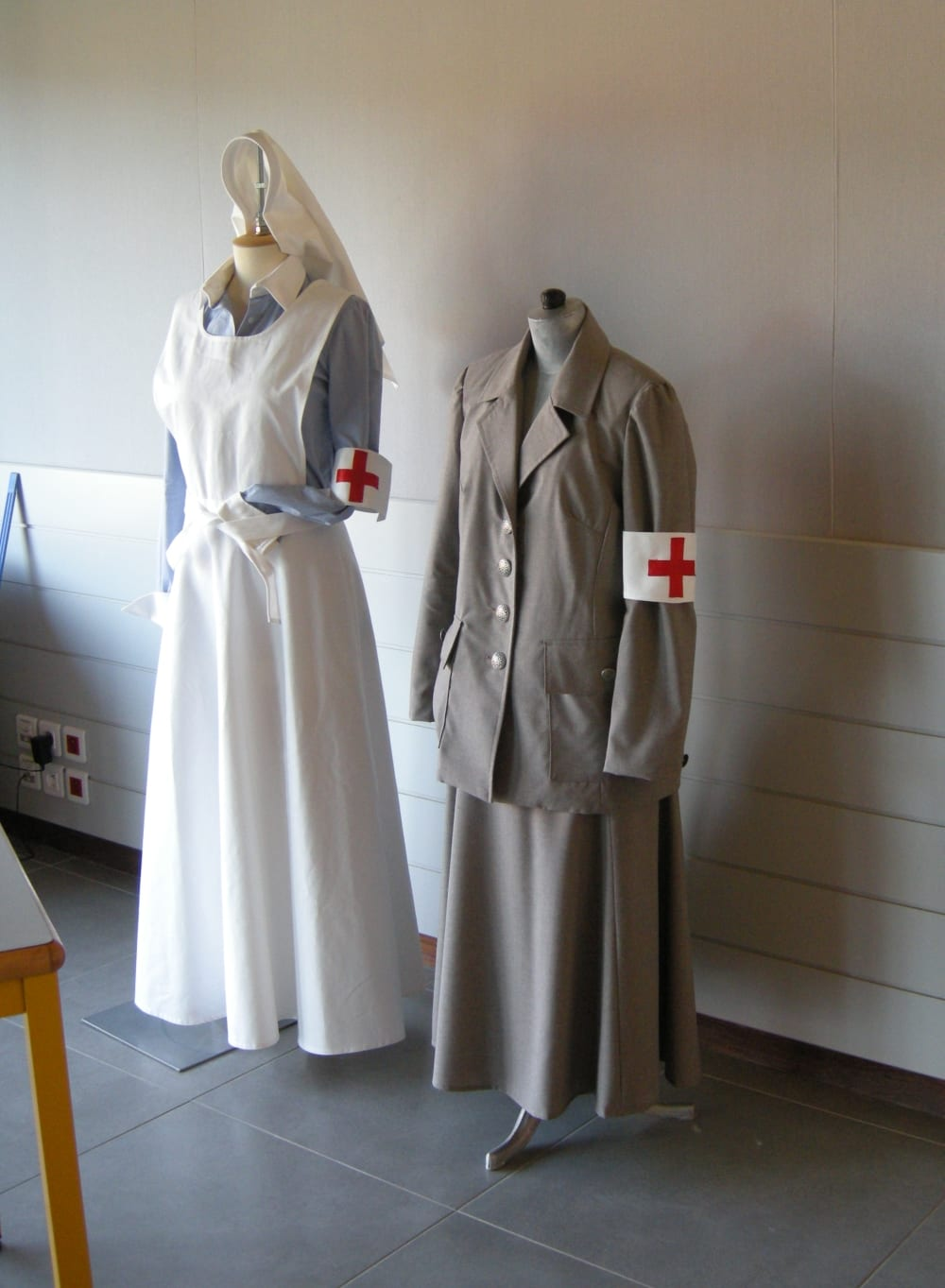 Uniforms made especially for the exhibition at Chanteloup