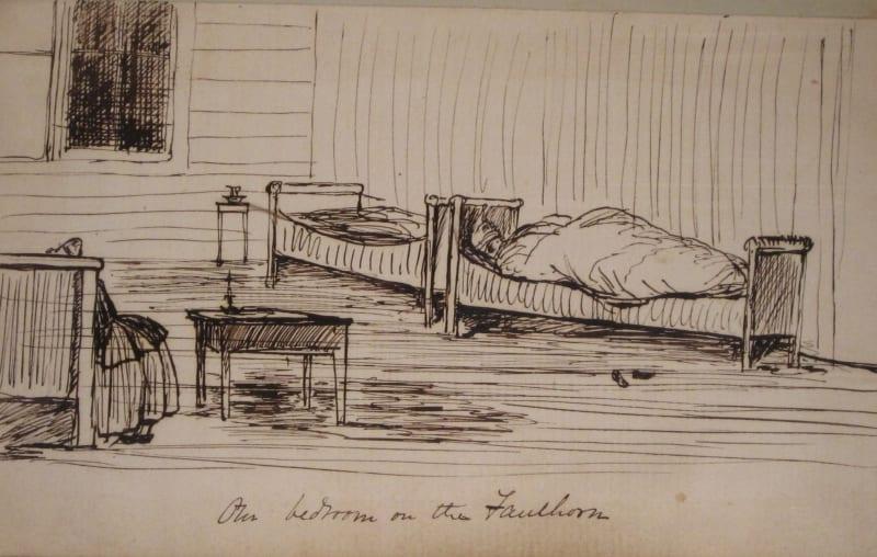 Buchanan's bedroom at the Faulhorn Inn