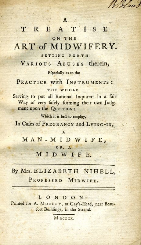 A treatise on the art of midwifery by Elizabeth Nihell, 1760
