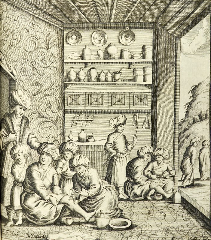 Illustration of Persian surgeons taken from Welsch's work of 1674