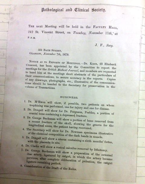 GP&CS Agenda 1879