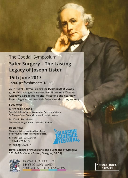 Flyer advertising the Goodal Symposium