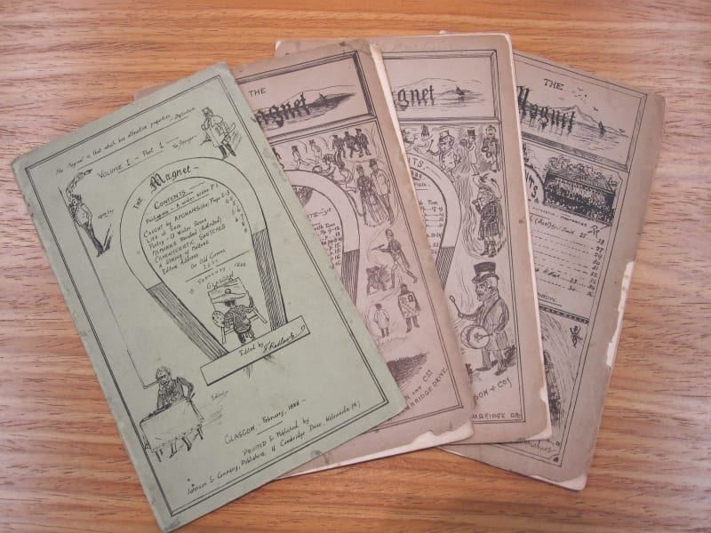 "All four issues of ""The Magnet"""