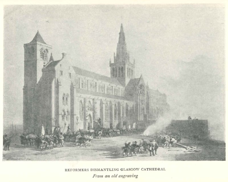 Plate from The Cathedral Church of Glasgow: A Description of its fabric and a Brief History of the Archi-Episcopal See by O. MacGregor Chalmers