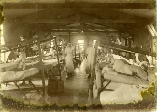 Hospital ward at Étaples, France, 1918 (RCPSG 64/4/2)