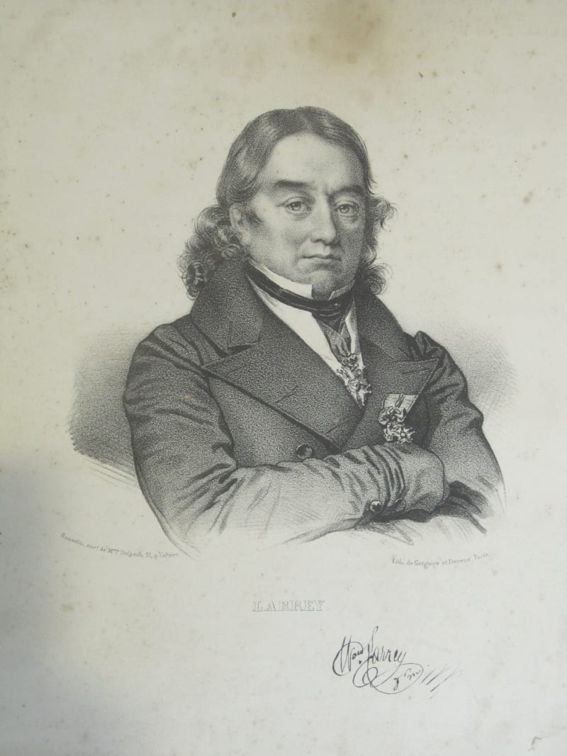 Lithographic print of Jean Dominique Larrey by Grégoire et Deneux, Paris, early 19th cent.