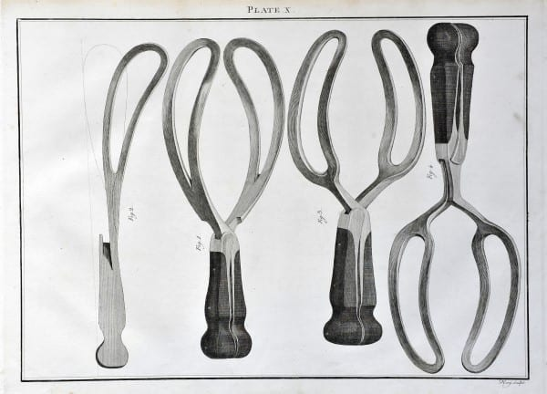 Illustration from Instruments Used in the Practice of Surgery by J.H. Savigny, London 1798