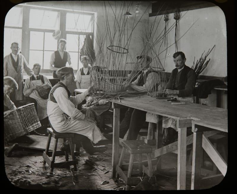 Basket making workshop at Erskine c. 1918