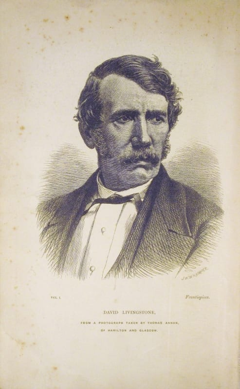 Portrait of David Livingstone taken from the Last Journals of David Livingstone, John Murray, 1874.