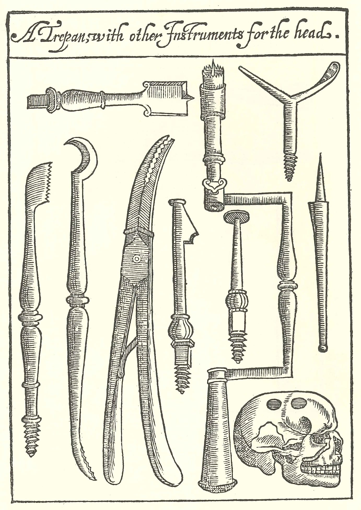 A trepan with other instruments for the head - Copy
