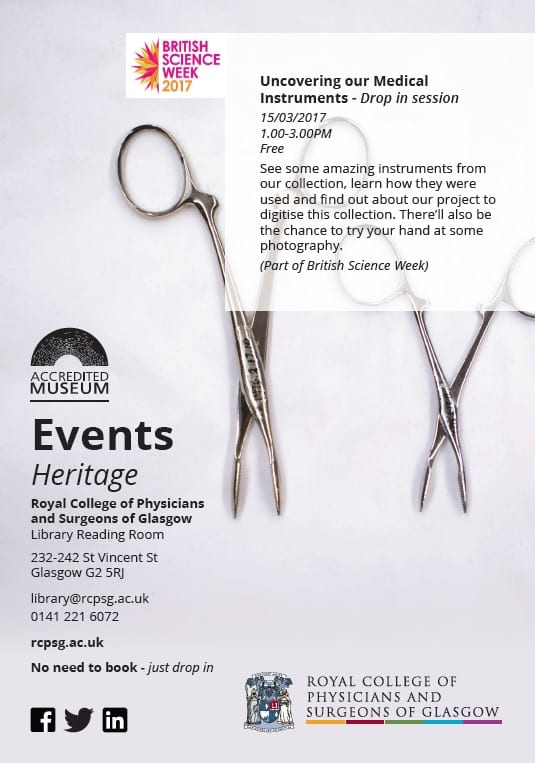 Flyer for our British Science Week event